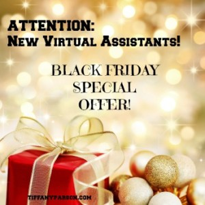 Black Friday New Virtual Assistant Special Offer
