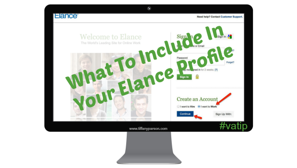 What To Include In Your Elance Profile
