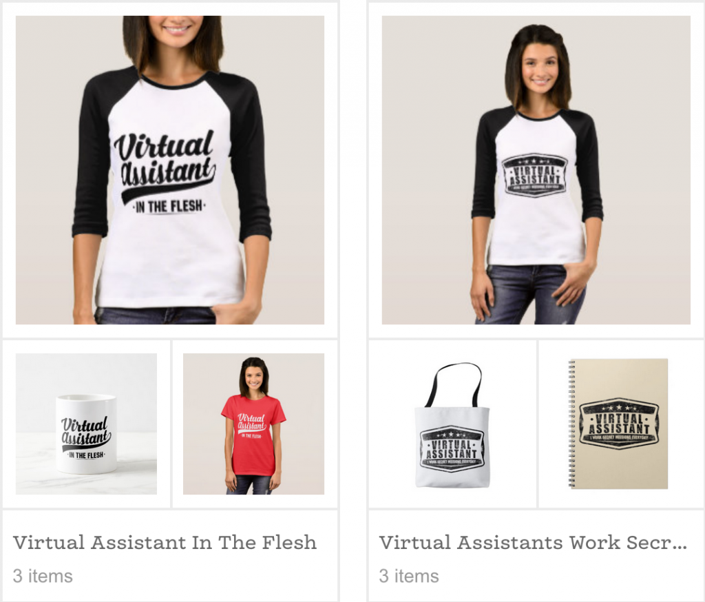 Virtual Assistant Gift Shop